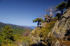 Paisagem da montanha na manhã, Imagem de Stock