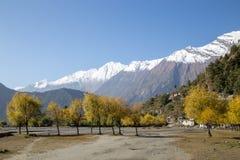 Paisagem da montanha na região de Annapurna, Nepal Foto de Stock