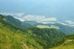 Paisagem da montanha na Transilvânia Imagens de Stock Royalty Free