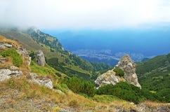 Paisagem da montanha na Transilvânia, Romania Imagens de Stock Royalty Free