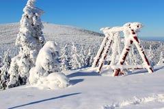Paisagem da montanha no inverno Foto de Stock Royalty Free
