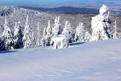 Paisagem da montanha no inverno Fotografia de Stock Royalty Free