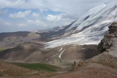Paisagem da montanha. O telhado do mundo Imagens de Stock Royalty Free