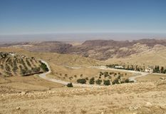 Paisagem da montanha, platô do deserto Fotografia de Stock Royalty Free