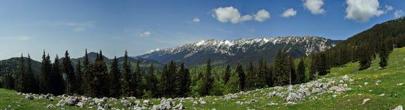 Paisagem da montanha - Romênia foto de stock