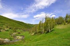 Paisagem da montanha, Shishtavec, Albânia do norte fotos de stock