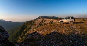 Paisagem da natureza da beleza, viajando no conceito do carro Imagem de Stock Royalty Free