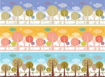 Paisagem da natureza com árvores Imagem de Stock Royalty Free