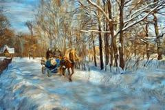 Paisagem da natureza do inverno Fotos de Stock Royalty Free