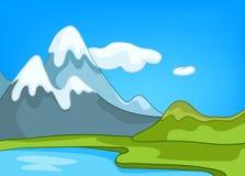 Paisagem da natureza dos desenhos animados Fotografia de Stock