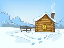 Paisagem da natureza dos desenhos animados Imagens de Stock Royalty Free