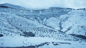 Paisagem da neve da montanha Imagens de Stock
