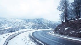 Paisagem da neve da montanha fotografia de stock royalty free