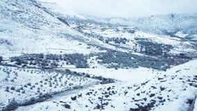 Paisagem da neve da montanha imagem de stock royalty free