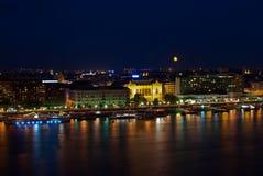 Paisagem da noite de Budapest Imagem de Stock Royalty Free
