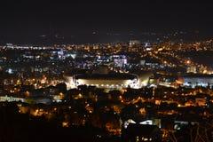 Paisagem da noite de Cluj-Napoca Fotografia de Stock Royalty Free