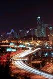 Paisagem da noite de Hong Kong Imagens de Stock