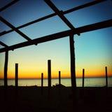 Paisagem da noite do beira-mar Imagem de Stock Royalty Free