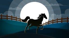 Paisagem da noite Ilustração de Hourse Foto de Stock