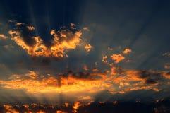 Paisagem da nuvem do cenário Fotos de Stock Royalty Free