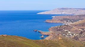 Paisagem da península de Mani, Laconia, Peloponnese, Grécia imagens de stock royalty free