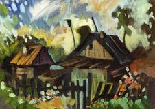 Paisagem da pintura Imagens de Stock
