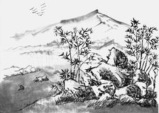 Paisagem da pintura chinesa Imagem de Stock