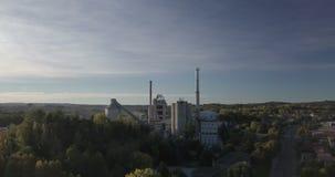 Paisagem da planta industrial video estoque
