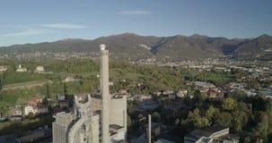 Paisagem da planta industrial filme