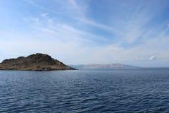 Paisagem da praia croata Fotografia de Stock