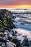 Paisagem da praia de Furadouro Fotografia de Stock Royalty Free