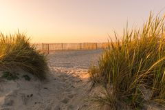 Paisagem da praia de Furadouro Fotos de Stock Royalty Free