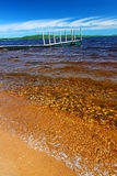 Paisagem da praia de Gogebic do lago imagens de stock