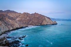 Paisagem da praia de Muscat Imagens de Stock