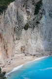Paisagem da praia de Porto Katsiki, Lefkada, ilhas Ionian Foto de Stock Royalty Free