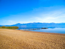 Paisagem da praia do lago Imagem de Stock