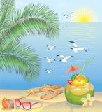 Paisagem da praia do verão ilustração stock