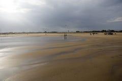 Paisagem da praia no em-Mar de Gopalpur. Imagens de Stock