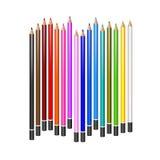 Paisagem da queda Grupo de lápis realísticos do vetor Foto de Stock
