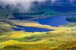 Paisagem da região selvagem em Inverpolly nas montanhas de Escócia Fotos de Stock Royalty Free