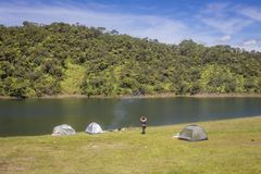Paisagem da represa de Guatapé em Antioquia - Colômbia imagem de stock royalty free
