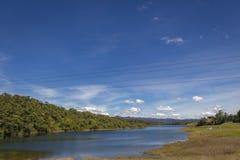 Paisagem da represa de Guatape em Antioquia - Colômbia foto de stock royalty free