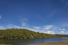 Paisagem da represa de Guatape em Antioquia - Colômbia foto de stock