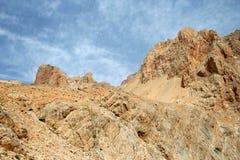 Paisagem da rocha e do céu foto de stock