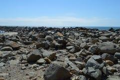 Paisagem da rocha na baía Califórnia de Morro Fotos de Stock Royalty Free