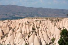 Paisagem da rocha vulcânica, Goreme, Cappadocia, Fotografia de Stock Royalty Free