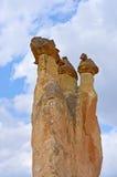 Paisagem da rocha vulcânica no vale de Zelve, Cappadocia Turquia, fotografia de stock
