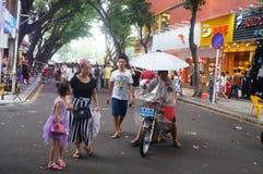 Paisagem da rua, rua comercial em Xixiang, Shenzhen Fotografia de Stock