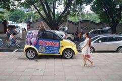 Paisagem da rua, rua comercial em Xixiang, Shenzhen Fotos de Stock Royalty Free