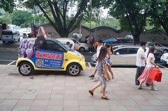 Paisagem da rua, rua comercial em Xixiang, Shenzhen Imagens de Stock